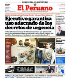 Printed edition of the Official Gazette El Peruano