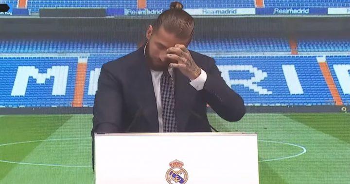 Entre lágrimas, Ramos se despide del Real Madrid