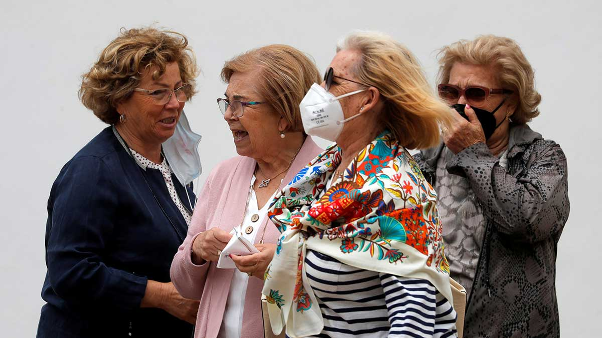 The use of masks abroad was imposed in Spain in May 2020. Photo: AFP