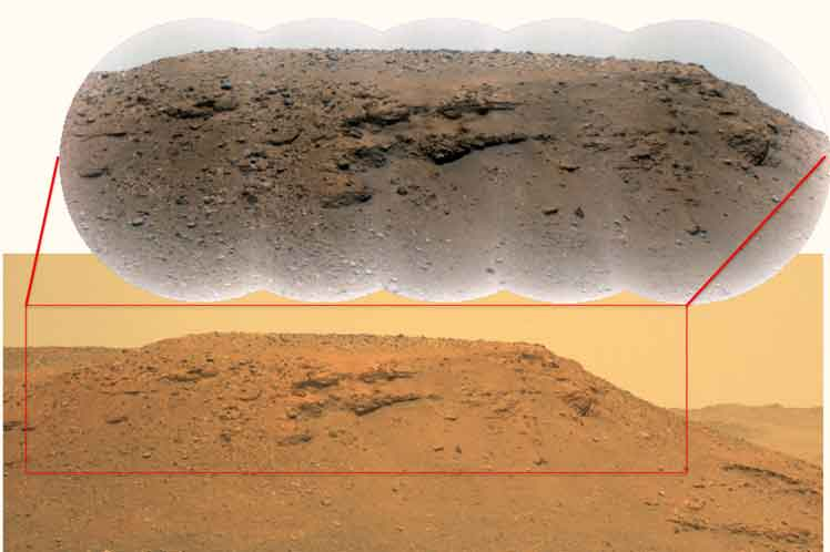 They have discovered evidence of a watery past in the crater of Mars - Prensa Latina