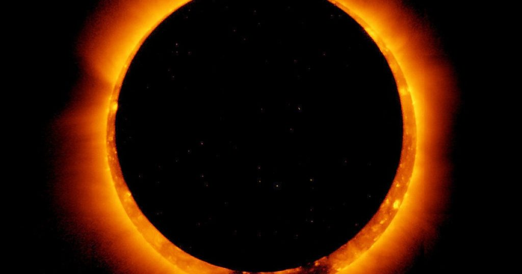 This is what the solar eclipse looked like on Thursday, June 10