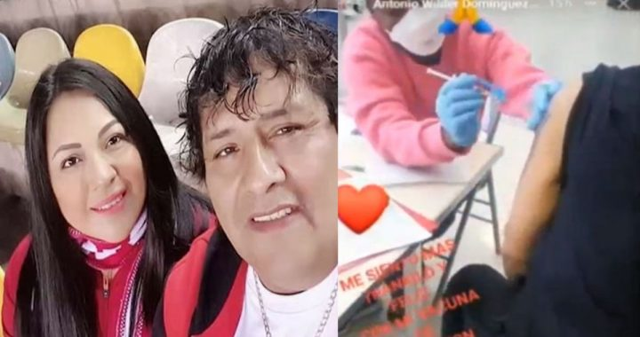 Toño Centella and his wife receive a COVID-19 vaccine in the US