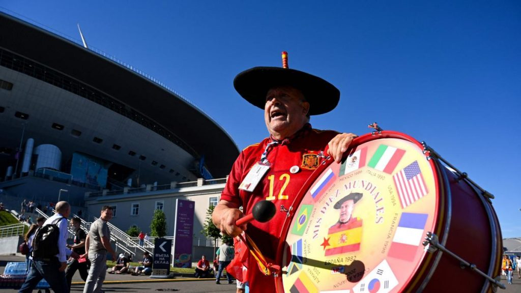Will Spanish fans be able to participate in the European Cup semi-final against Italy?