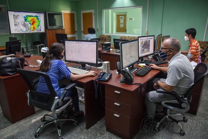 Centro de Pronósticos del Instituto de Meteorología Prevención contra Covid-19, coronavirus, nasobuco