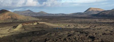 The volcanic and dry landscape of Lanzarote is reminiscent of the surface of Mars