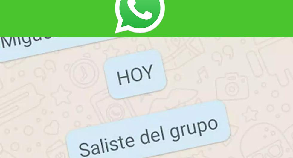 WhatsApp |  How to leave a group unnoticed |  Applications |  Applications |  Smartphone |  Mobile phones |  trick |  Tutorial |  viral |  United States |  Spain |  Mexico |  NNDA |  NNNI |  SPORTS-PLAY