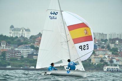 Jordi Zammar and Nicolas Rodriguez in Santander during a training session.