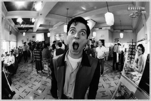 """Eric Stoltz during the filming of a movie """"Back to the future"""".  Photo: BTTF.com"""