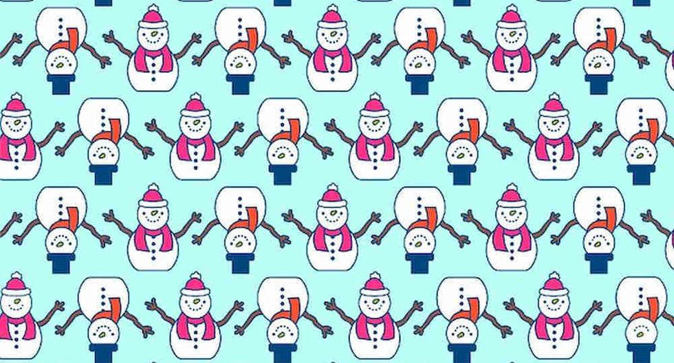 Here, today's viral challenge    Do you find the snowmen different from the rest in the picture?  Hardly anyone can overcome this visual puzzle    Facebook    social networks    Mexico