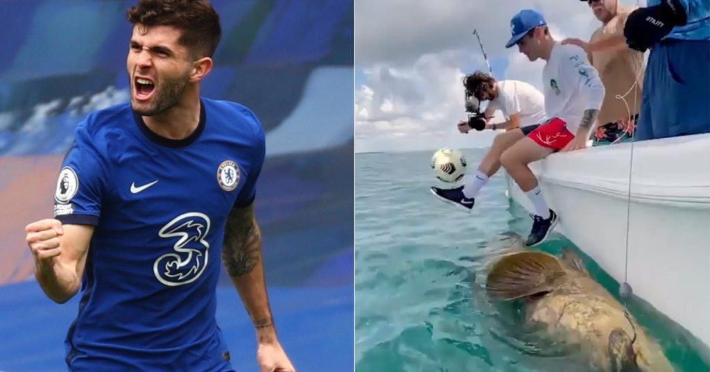 Controversial video of Christian Pulisic with a giant fish on social networks: they accuse him of abusing animals