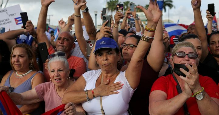 'Down with the shackles': March in Miami to demand freedom for Cuba, Nicaragua and Venezuela