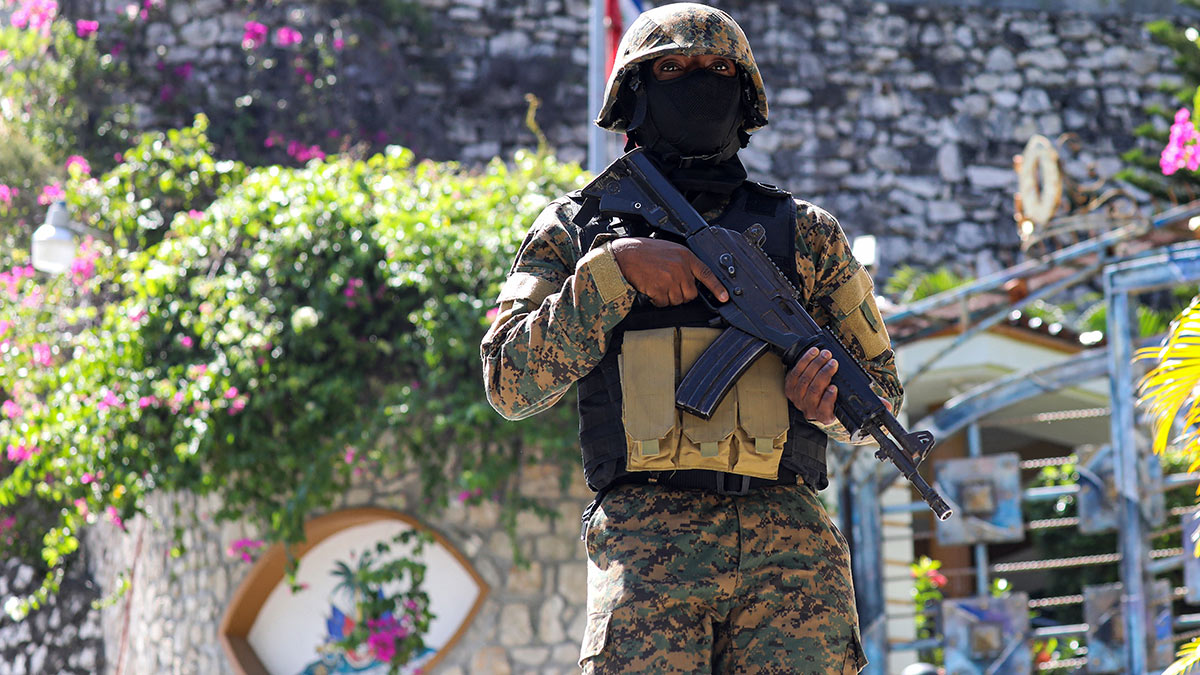 Haitian police have arrested 15 suspected killers, mostly Colombians.  Photo: AFP