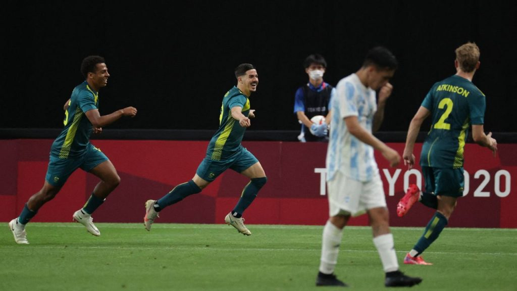 Strong stumble: In the first appearance of the Olympics, Argentina fell to Australia