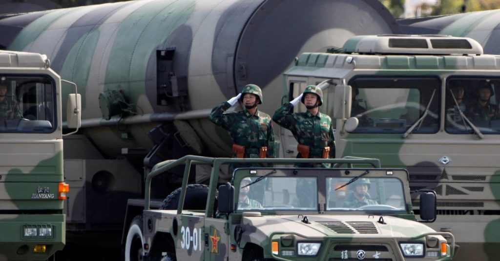 The United States denounced the Chinese regime's intention to expand and modernize its nuclear arsenal