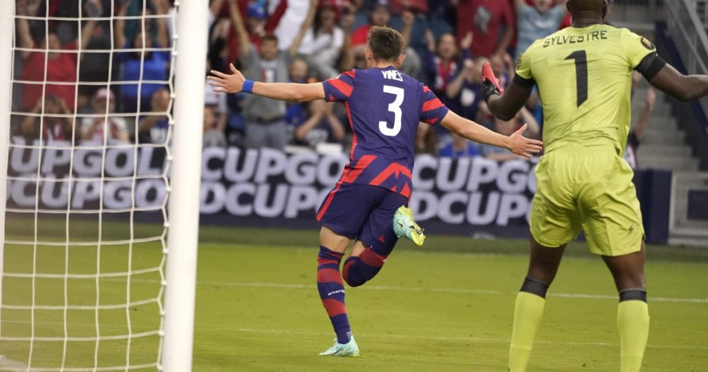 The United States participates for the first time by defeating Haiti in the Gold Cup
