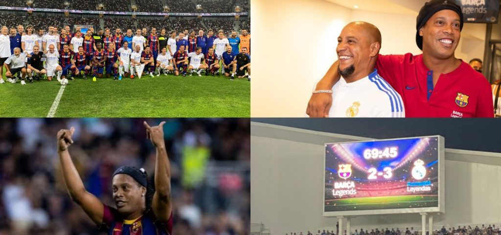 Video with the best legend classic: Ronaldinho's magic, the effect of Monetes, the help of Rivaldo, the goal of de la Red and the victory of Real Madrid