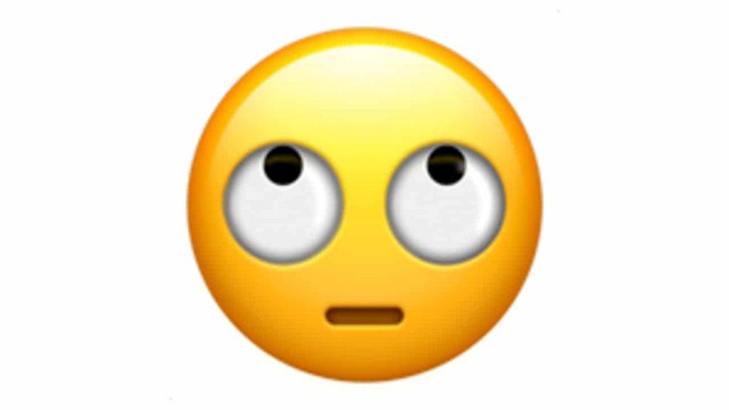 WhatsApp emoji cara con ojos hacia arriba