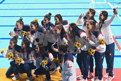 The Spanish water polo team won the silver medal at the Tokyo 2020 Games