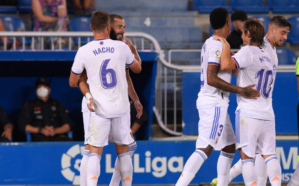 Alaves goals against Real Madrid (1-4).  Video
