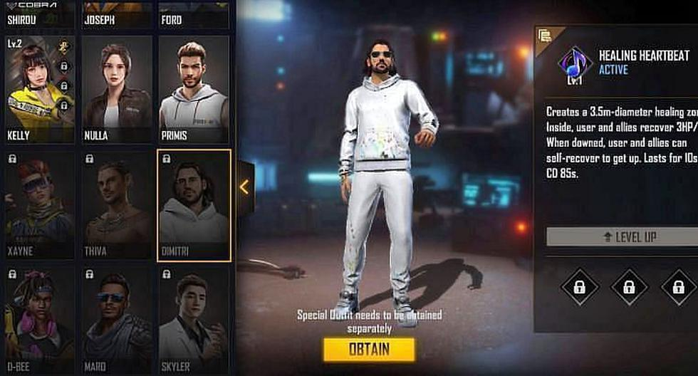 Free Fire makes these characters the best combination with Dimitri |  Mexico |  Spain |  Spor-Play