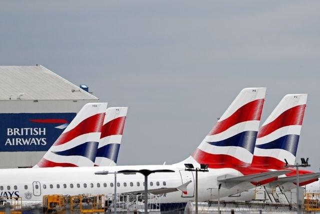 Aviones de British Airways en el aeropuerto Heathrow de Londres.