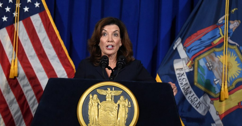 New York's new governor has distanced herself from Andrew Cuomo after he resigned over sexual harassment allegations