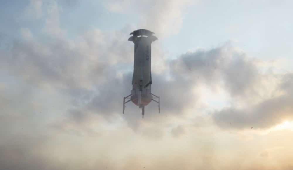 Run the work of the Blue Origin capsule in space