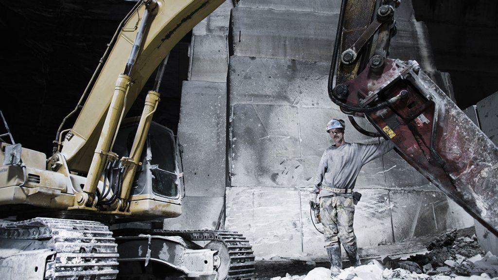 Excavator operator destroys trucks for not pushing them