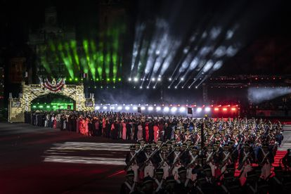 Ceremony of the bicentenary of Mexico's independence on Monday.