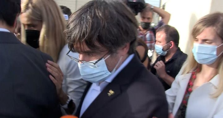 Catalan independence leader Carles Puigdemont announced his release