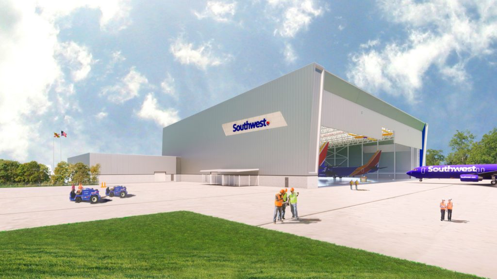 Southwest to build its first maintenance center in the northeastern United States