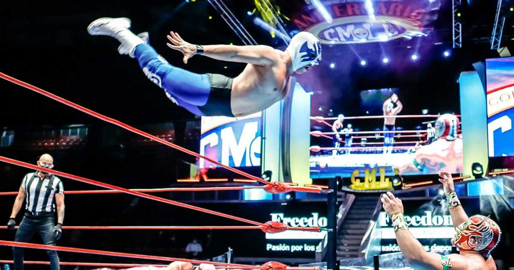 This is how the earthquake was witnessed in a full wrestling job