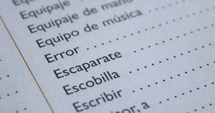 Palabra del español que se puede pronunciar, pero no escribir