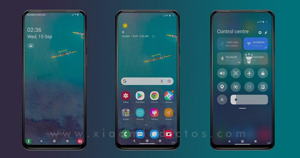 Samsung Tema user interface