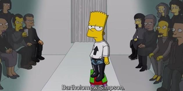 """Balenciaga's """"The Simpsons"""" model"""