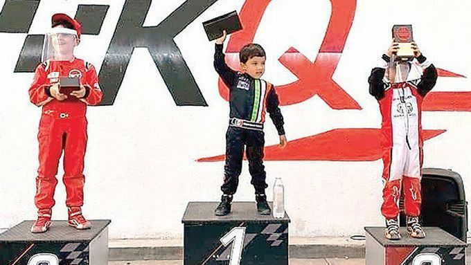 Mateo Garcia, the 5-year-old Mexican who dreams of racing Formula 1 following in the footsteps of Lewis Hamilton