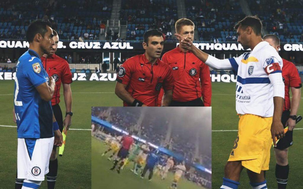 Video |  Cruz Azul fan takes the field and hits San Jose