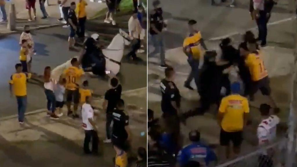 #Video condemn police abuse against Tigres fan in San Nicolas